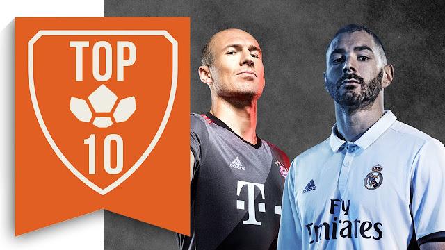 Las 10 camisetas más bonitas del fútbol 2016/2017