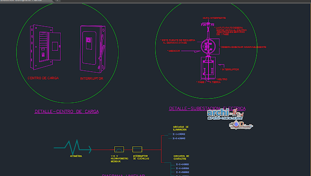 Full Electric Floor Plan in AutoCAD