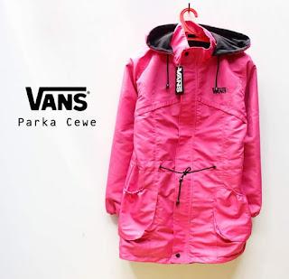 Jaket Parka Cewe Warna Pink