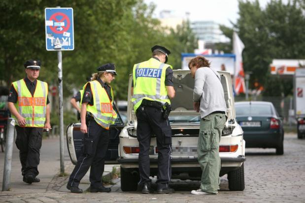 Polizeikontrollen Warnung
