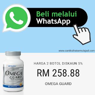 Beli Online Whatsapp Omega Guard Shaklee Minyak Ikan diskaun 5%