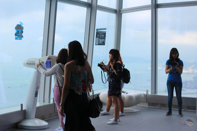 Observation deck of Sky100 in Hong Koing