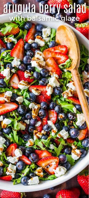 Arugula Salad with Berries