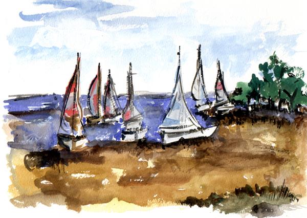 Landscape Artists International: Sailing Beach - Wilmette