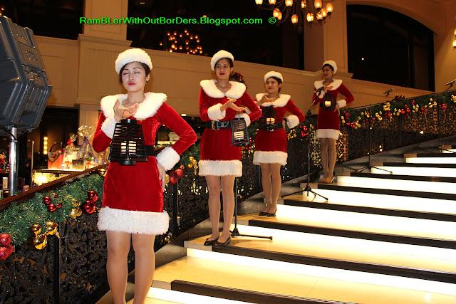 female Santa Claus, Hotel Sofitel Philippine Plaza Manila, Philippines