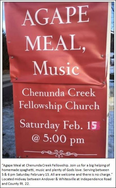 2-15 AGAPE MEAL, Chenunda Creek Church
