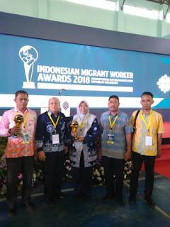 Indramayu Raih 2 Penghargaan Indonesian Migrant Worker Award 2018