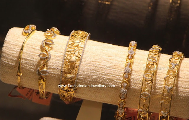 Lightweight Diamond Bangles Collection