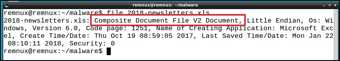 Document Analysis - 2018-newsletters xls - Security Boulevard