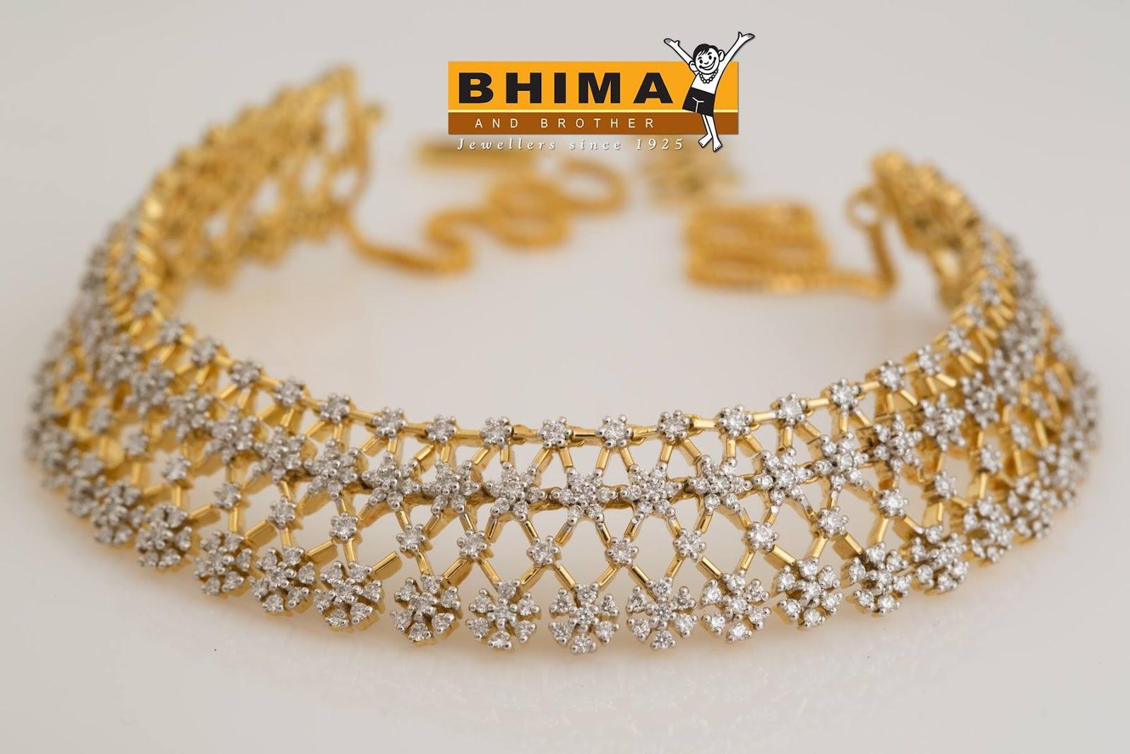 Latest Bhima Diamond Choker Necklace