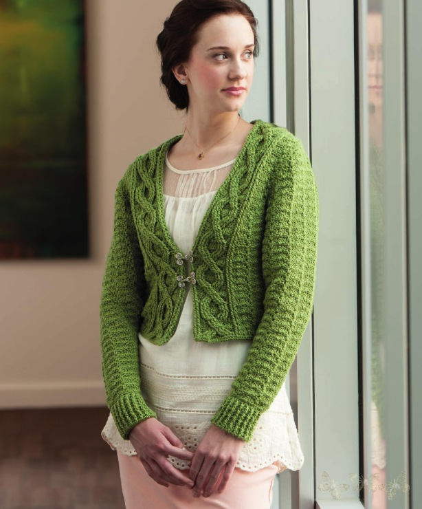 Free English Crochet Patterns For Lacy Crochet Cardigan Pattern 14