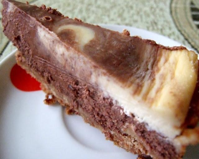 sernik marmurkowy z czekoladą