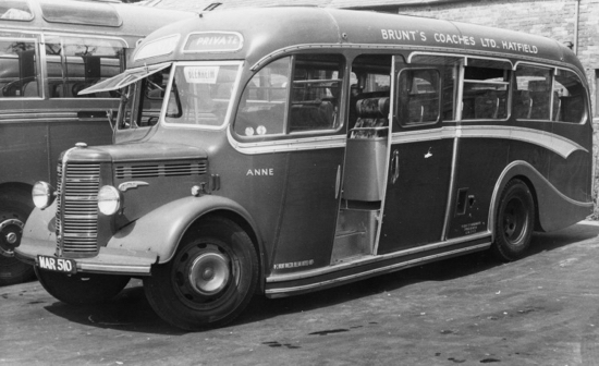 Photograph of a Brunt's Coach 1950s Image by Ron Kingdon