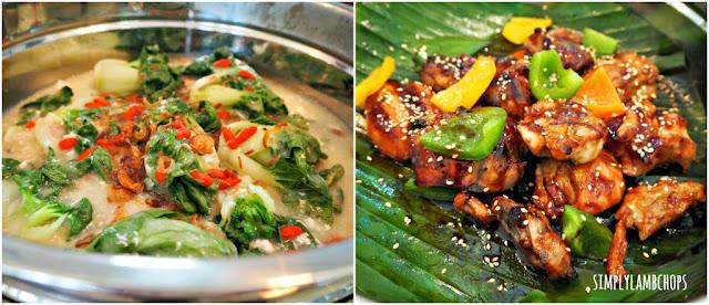 Sandbank Lunch Buffet: Stir fried Nai Bai & Teriyaki Chicken