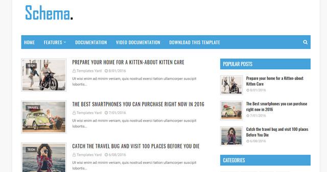 Schema Niche Responsive Blogger Templates