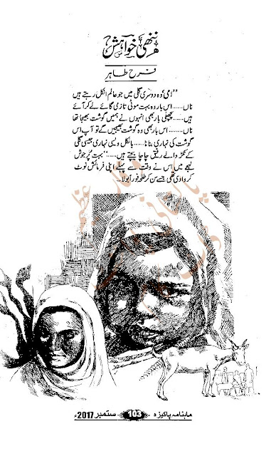 Free download Nanhi khwahish novel by Farah Tahir pdf