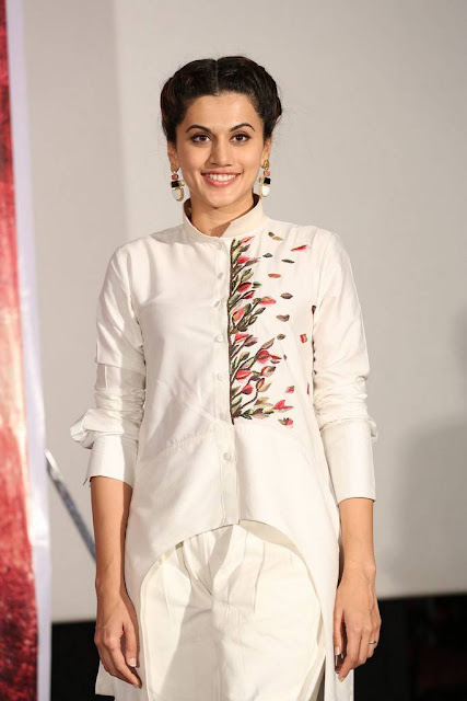 Taapsee Stills At Naam Shabana Movie Press Meet