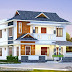 2024 sq-ft 4 bedroom modern sloping roof home