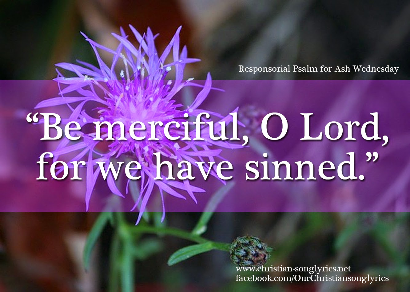 Be Merciful, O Lord, for we have sinned.