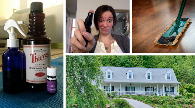 Ditch chemicals. Detox your home in 90 days and go green! #thieves