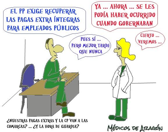 EL PP EXIGE (AHORA) RECUPERAR EL 100% DE LAS PAGAS EXTRA A EMPLEADOS PÚBLICOS