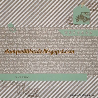 Guy Greetings, Stampin Up, Stamp with Trude, Scrapbook Sunday, page layout, masculine page