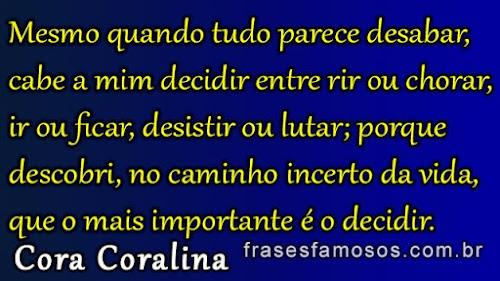 Frases de Cora Coralina