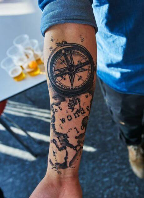 54 best arm tattoos ideas for women men 2018 tattoosboygirl if you love travelling then a cool design for you would be to try world map tattoo where you color the countries that you have visited gumiabroncs Image collections