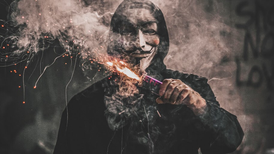 Anonymous, Mask, Photography, 4K, #4.2071