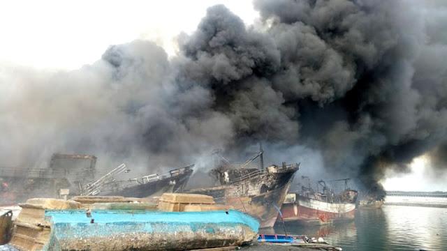 kebakaran, kapal nelayan