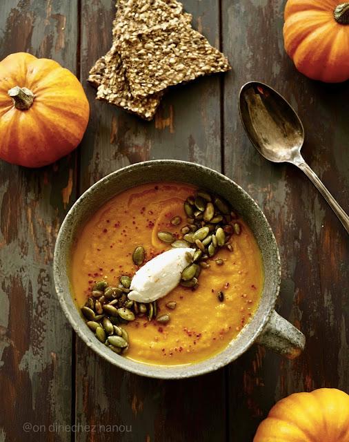 courge , butternut , carottes , soupe au four , automne , savoureux