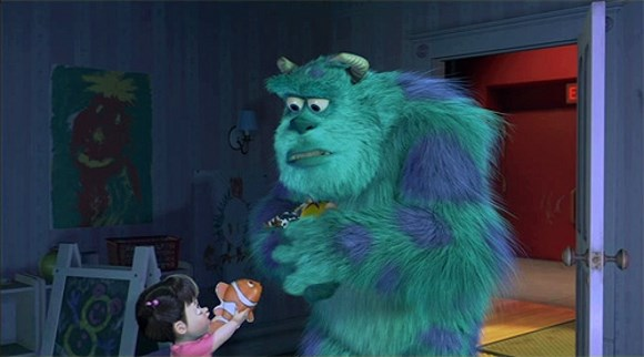 Nemo's special appearance in Monsters Inc