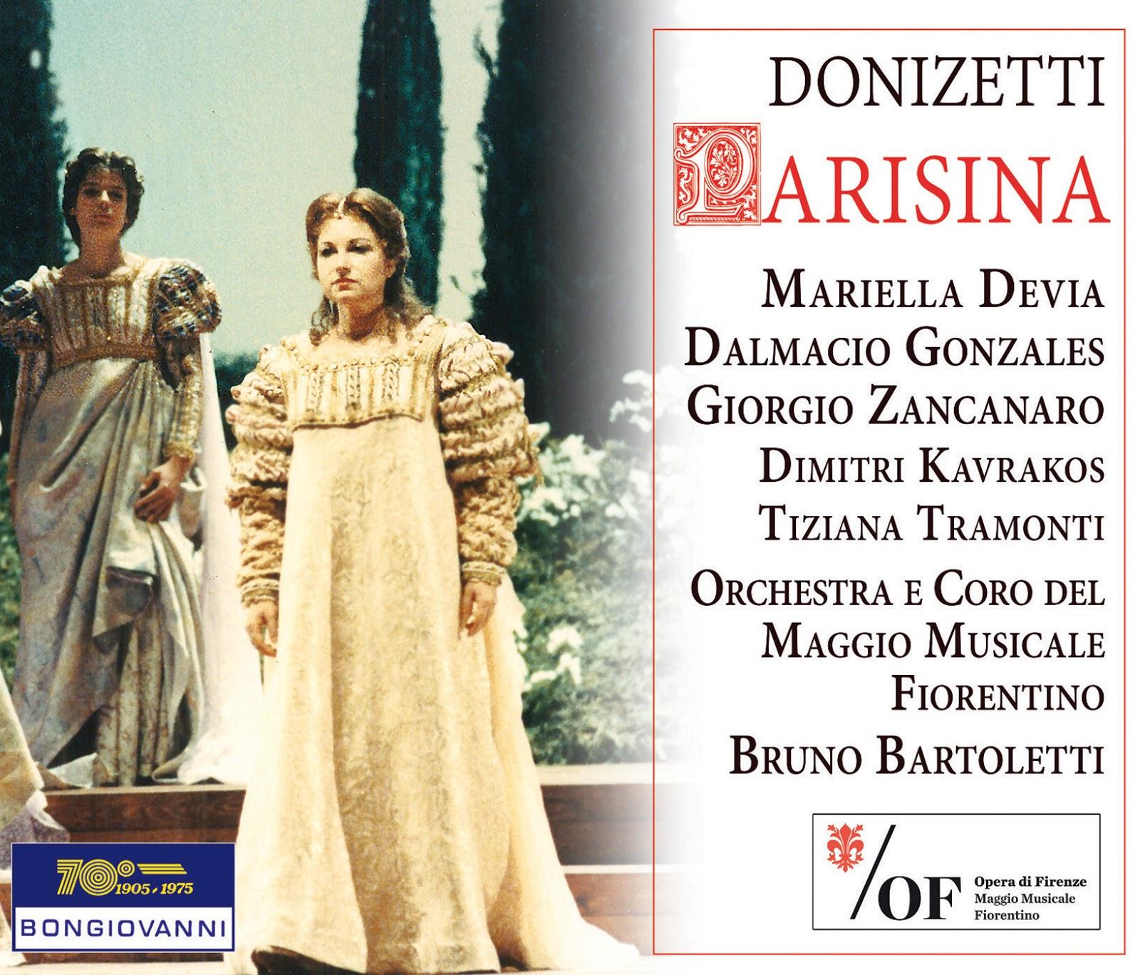 CD REVIEW: Gaetano Donizetti - PARISINA D'ESTE (Bongiovanni GB 2569/70-2)