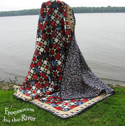 Orca Bay quilt along the river with a view of the back