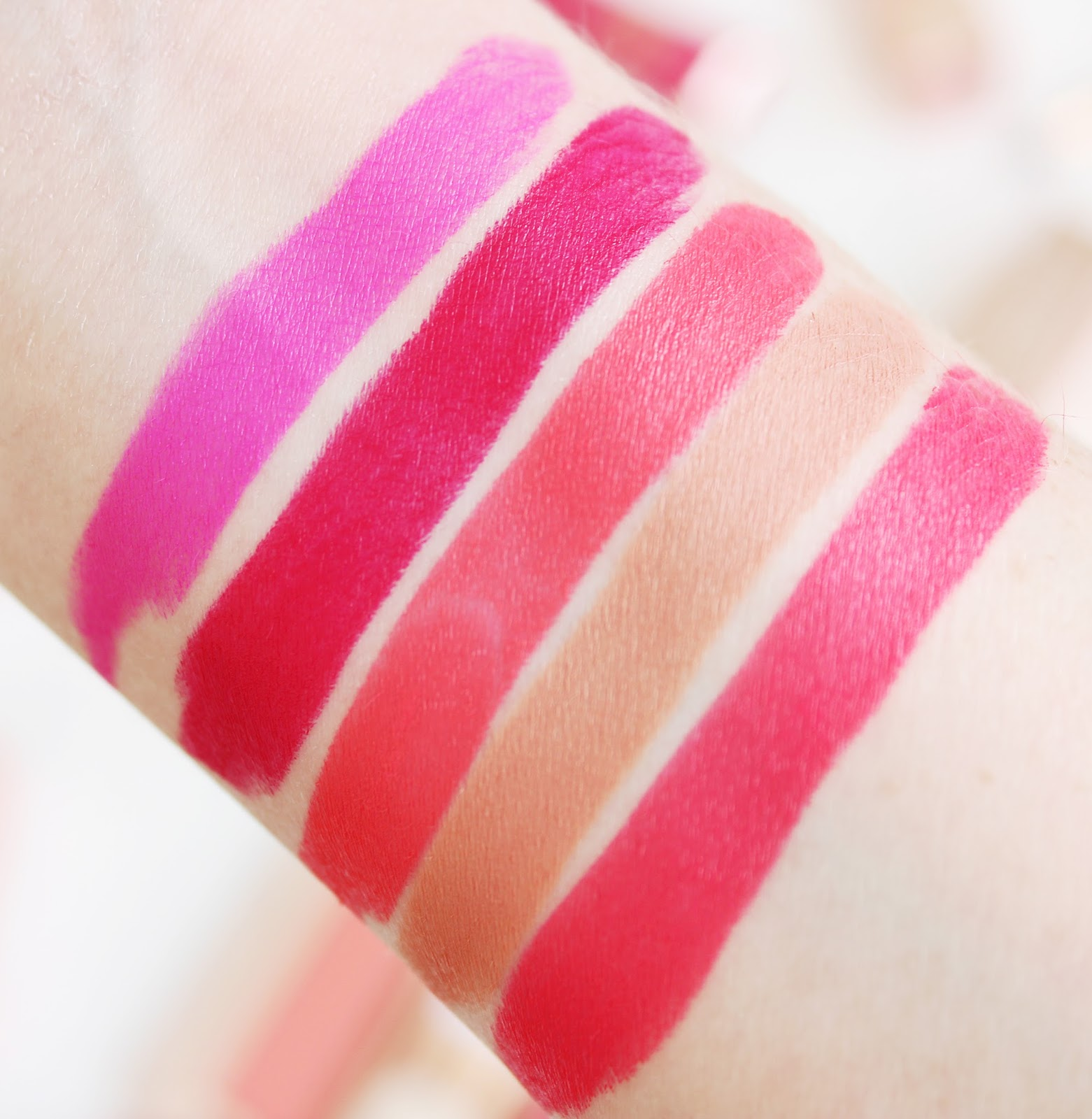 Models Own Gilt collection matte lipstick swatches