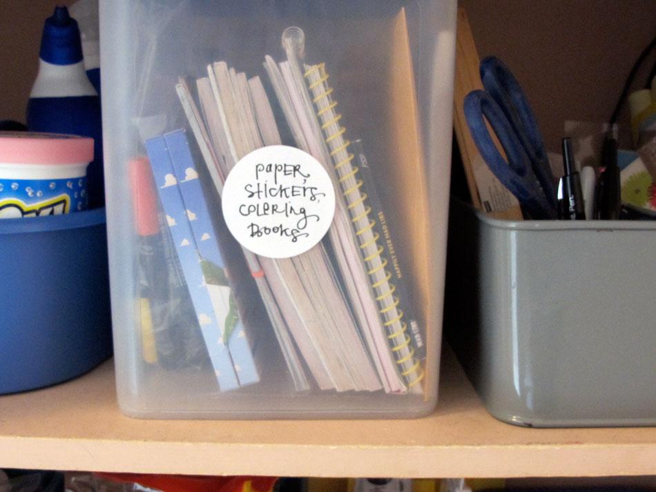 marta writes: preschool projects / art supplies and storage