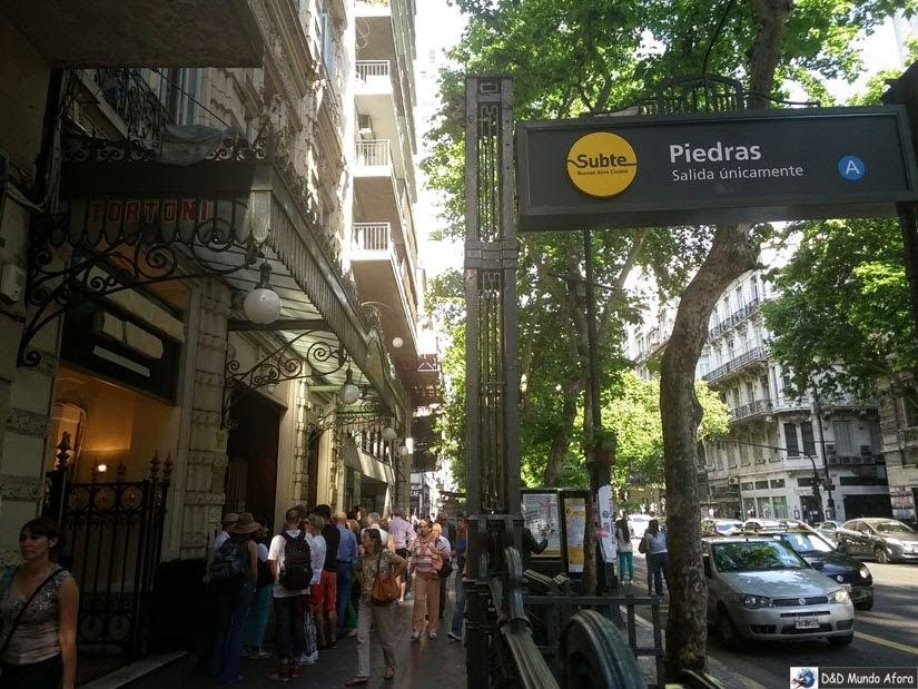 Como chegar ao Café Tortoni - Buenos Aires (Argentina)