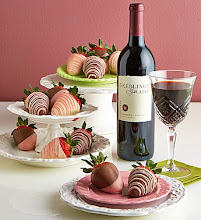 Valentine Strawberries & Cabernet Set
