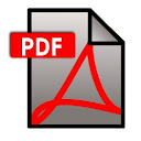PDF portable document format file icon
