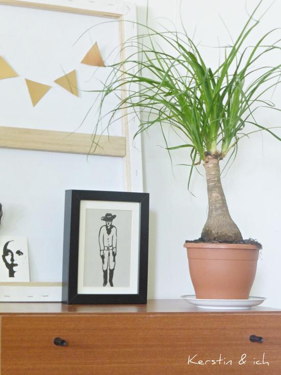 Dekoration mit Pflanzen: Elefantenfuß, Kupfer, Print Cowboy