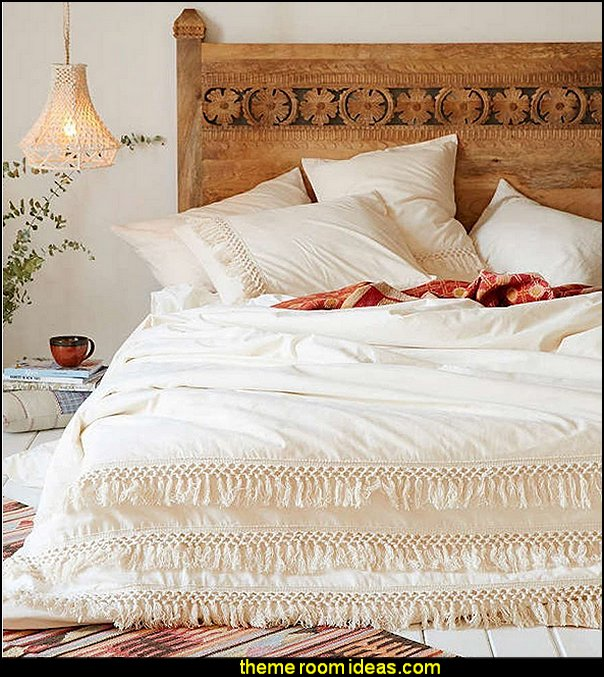 White Duvet cover Fringed Cotton Tassel Duvet Cover Quilt Cover  bedding - funky cool girls bedding - fashion bedding - girls bedding - teens bedding  - novelty bedding - duvet covers - comforter sets - lace bedding - floral bedding - solid color bedding - fuzzy furry bedding - ruffle bedding - novelty blankets - mermaid blankets - Pompom blanket