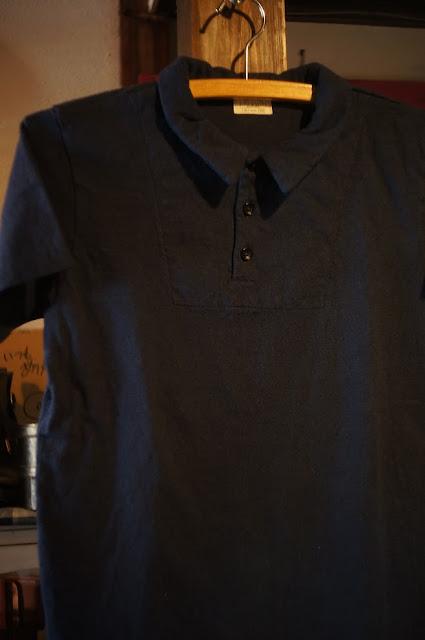 LOOP&WEFT LSP1003 リバイバル杢天竺レギュラーカラーポロTシャツ クラシックネイビー