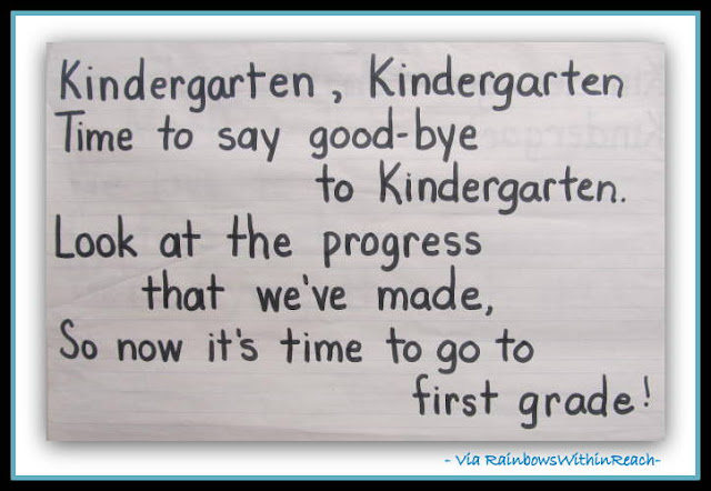 photo of: Kindergarten Graduation Song (Piggy Back Tune) via RainbowsWithinReach