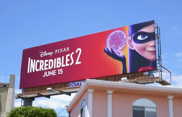 Violet Incredibles 2 movie billboard