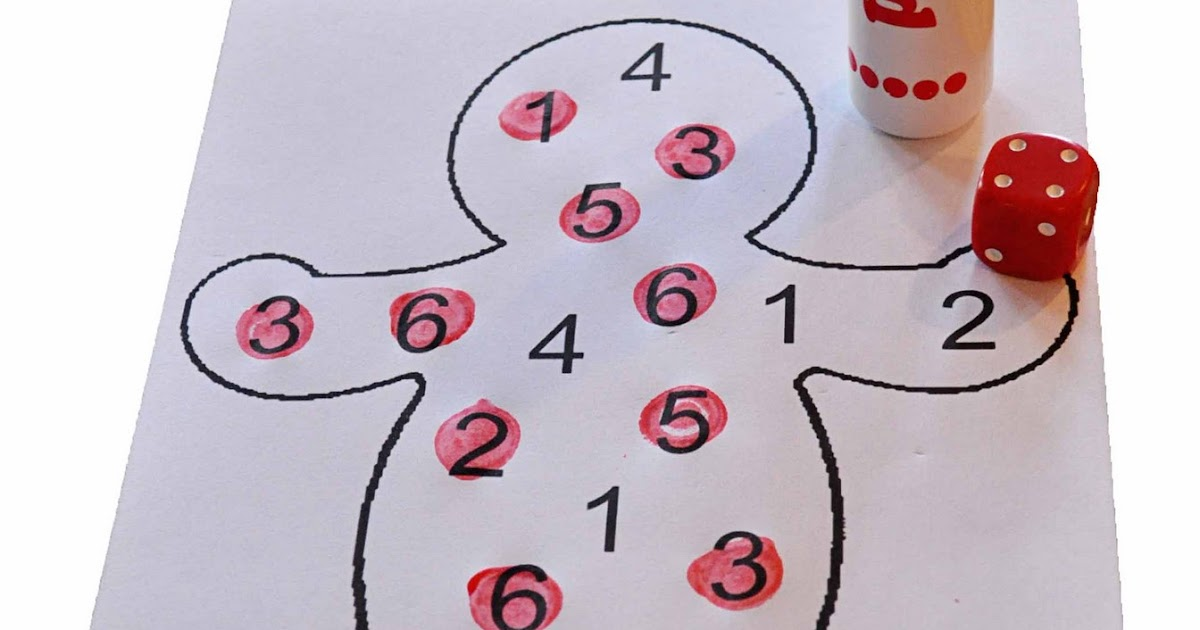 Children's Learning Activities: Gingerbread Number Activity