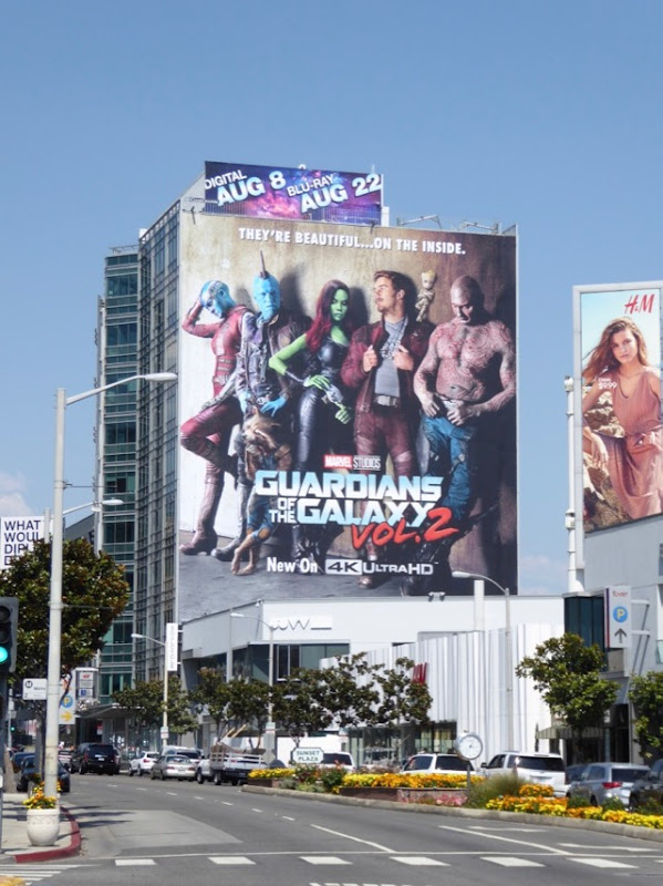 Guardians of the Galaxy 2 Blu-ray billboard