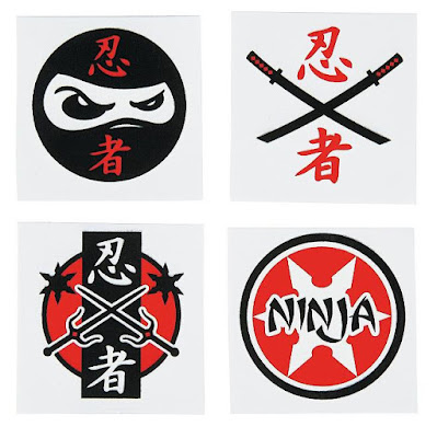 Ninja Temporary Tattoos