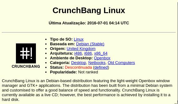 GNU/Linux: Distribuição CrunchBang Linux foi descontinuada e o projeto ressurge como BusenLabs!