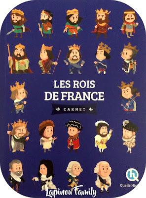 carnet rois de france quelle histoire
