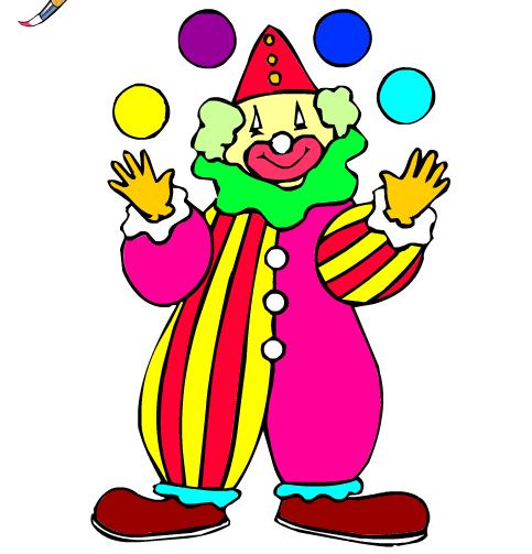 рисунок клоуна карандашом в полный рост данной странице